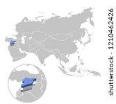 vector illustration of syria in ... | Shutterstock .eps vector #1210462426