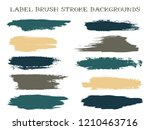 minimalist label brush stroke... | Shutterstock .eps vector #1210463716