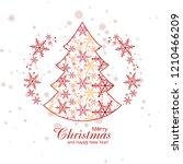 elegant snowflakes decorative...   Shutterstock .eps vector #1210466209