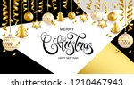 merry christmas and happy new... | Shutterstock .eps vector #1210467943