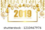 2019 merry christmas and happy...   Shutterstock .eps vector #1210467976