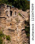 old ancient white destroyed... | Shutterstock . vector #1210474099