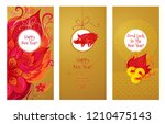 vector cards with a... | Shutterstock .eps vector #1210475143