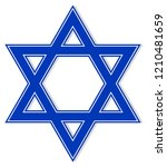 blue star of david on a... | Shutterstock .eps vector #1210481659