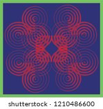 colorful symmetry round circle... | Shutterstock .eps vector #1210486600