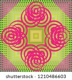 colorful symmetry round circle... | Shutterstock .eps vector #1210486603