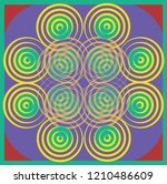 colorful symmetry round circle... | Shutterstock .eps vector #1210486609