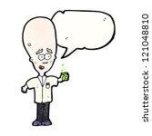 cartoon genius scientist | Shutterstock .eps vector #121048810