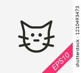 cat icon isolated on background....