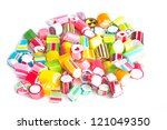Close up colorful candies. - stock photo