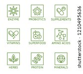 vector set of icons and badges... | Shutterstock .eps vector #1210495636