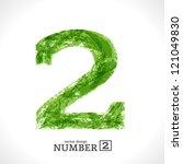 Grunge Vector Symbol. Green Ec...