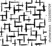 irregular brush strokes pattern.... | Shutterstock .eps vector #1210500709