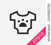 pet shirt icon isolated on...