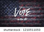 vote in the united states... | Shutterstock . vector #1210511053