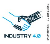 industrial 4.0 cyber physical... | Shutterstock .eps vector #1210512553