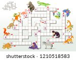 crossword puzzle game with... | Shutterstock .eps vector #1210518583