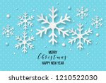 luxury elegant merry christmas... | Shutterstock .eps vector #1210522030