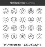 halloween cute theme  round... | Shutterstock .eps vector #1210522246