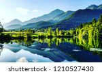 mirroring in the lake | Shutterstock . vector #1210527430