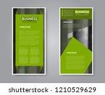 narrow flyer and leaflet design.... | Shutterstock .eps vector #1210529629