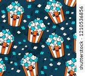 cute kids pop corn pattern for... | Shutterstock . vector #1210536856