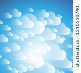 clouds on the sky   background... | Shutterstock .eps vector #1210550740