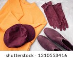 flat lay with comfort warm... | Shutterstock . vector #1210553416