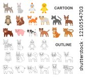 toy animals cartoon icons in... | Shutterstock .eps vector #1210554703