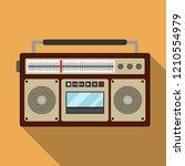 retro music player. vintage... | Shutterstock .eps vector #1210554979