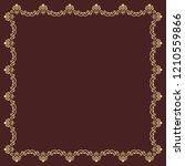 classic vector square golden...   Shutterstock .eps vector #1210559866