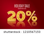 golden realistic holiday sale... | Shutterstock .eps vector #1210567153