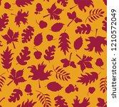 autumn background. fall leaves... | Shutterstock .eps vector #1210572049