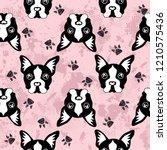 cute kids dog pattern for girls ... | Shutterstock . vector #1210575436