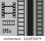 set of film vector stripes... | Shutterstock .eps vector #1210576279
