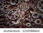 steampunk texture  background... | Shutterstock . vector #1210588663