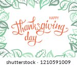 thanksgiving lettering.... | Shutterstock .eps vector #1210591009