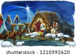 religious illustration three... | Shutterstock . vector #1210592620