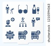 simple set of 9 icons related... | Shutterstock .eps vector #1210594363