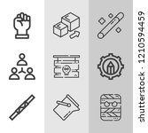 simple collection of concept... | Shutterstock .eps vector #1210594459