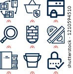 simple set of  9 outline icons... | Shutterstock .eps vector #1210594510