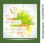vector brochure layout design... | Shutterstock .eps vector #121059673