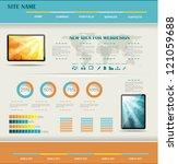 modern web site editable... | Shutterstock .eps vector #121059688