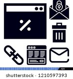 interface related filled vector ... | Shutterstock .eps vector #1210597393