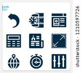 simple set of  9 filled icons... | Shutterstock .eps vector #1210597726