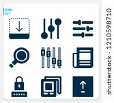 simple set of  9 filled icons... | Shutterstock .eps vector #1210598710