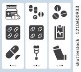 simple set of  9 filled icons... | Shutterstock .eps vector #1210600933
