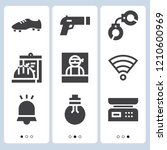 simple set of  9 filled icons... | Shutterstock .eps vector #1210600969