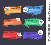 colorful set of sale banners... | Shutterstock .eps vector #1210601170