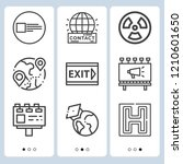 simple set of  9 outline icons... | Shutterstock .eps vector #1210601650